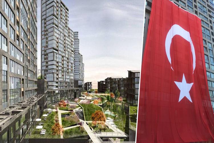 İncek Loft'ta 2400 metrekarelik dev Türk bayrağı