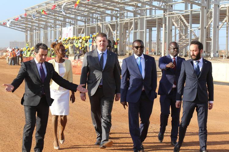 Cumhurbaşkanı Erdoğan Senegal'de Miller Holding'in şantiyesini ziyaret etti
