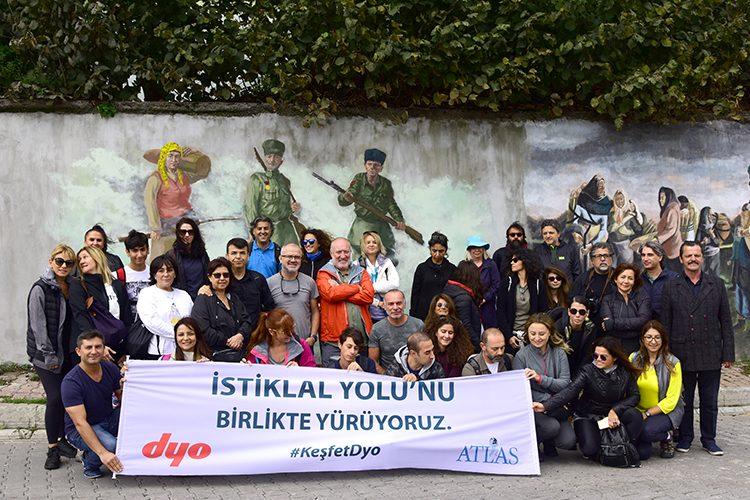 'DYO İLE İSTİKLAL YOLU'NDA tarihe ve yeşile yolculuk