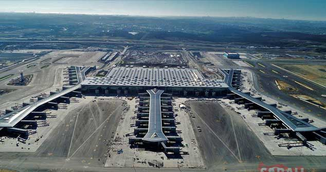İstanbul Havalimanı açılış öncesi havadan görüntülendi