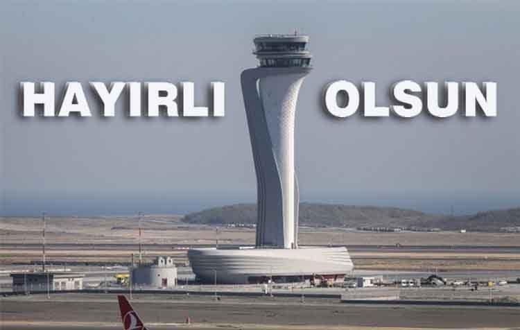 İstanbuş Yeni Havalimanı açıldı. Yeni Havalimanından son görüntüler