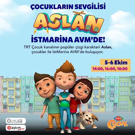 Sevilen Çizgi Film Kahramanı 'Aslan' İstMarina AVM'ye Geliyor!