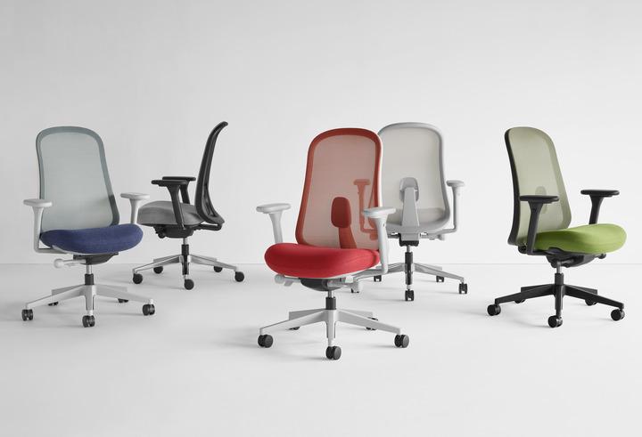 Sürdürülebilir ve ergonomik çalışma koltuğu LİNO